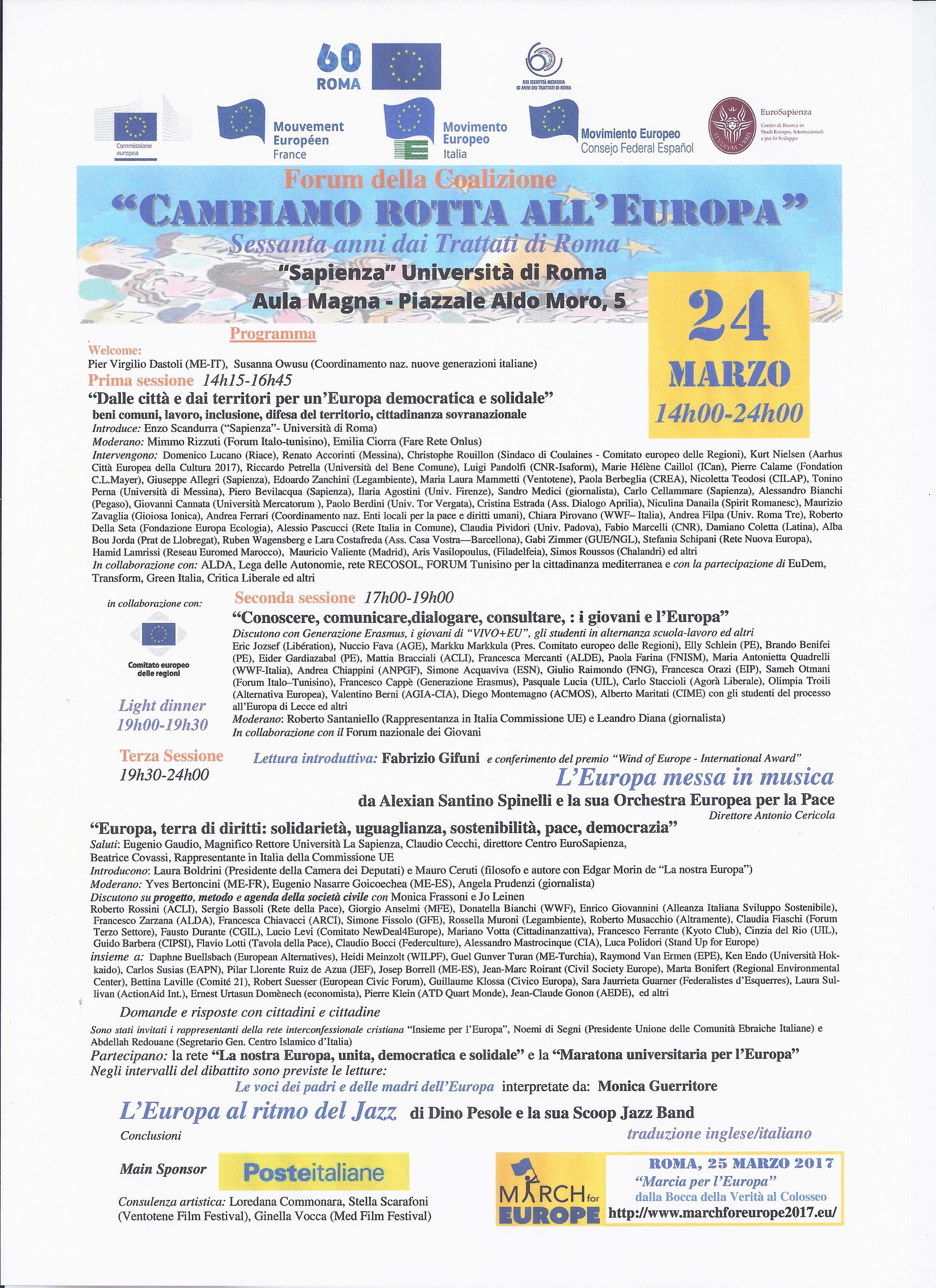 25 MARZO 2017 60° ANNIVERSARIO DEI TRATTATI DI ROMA