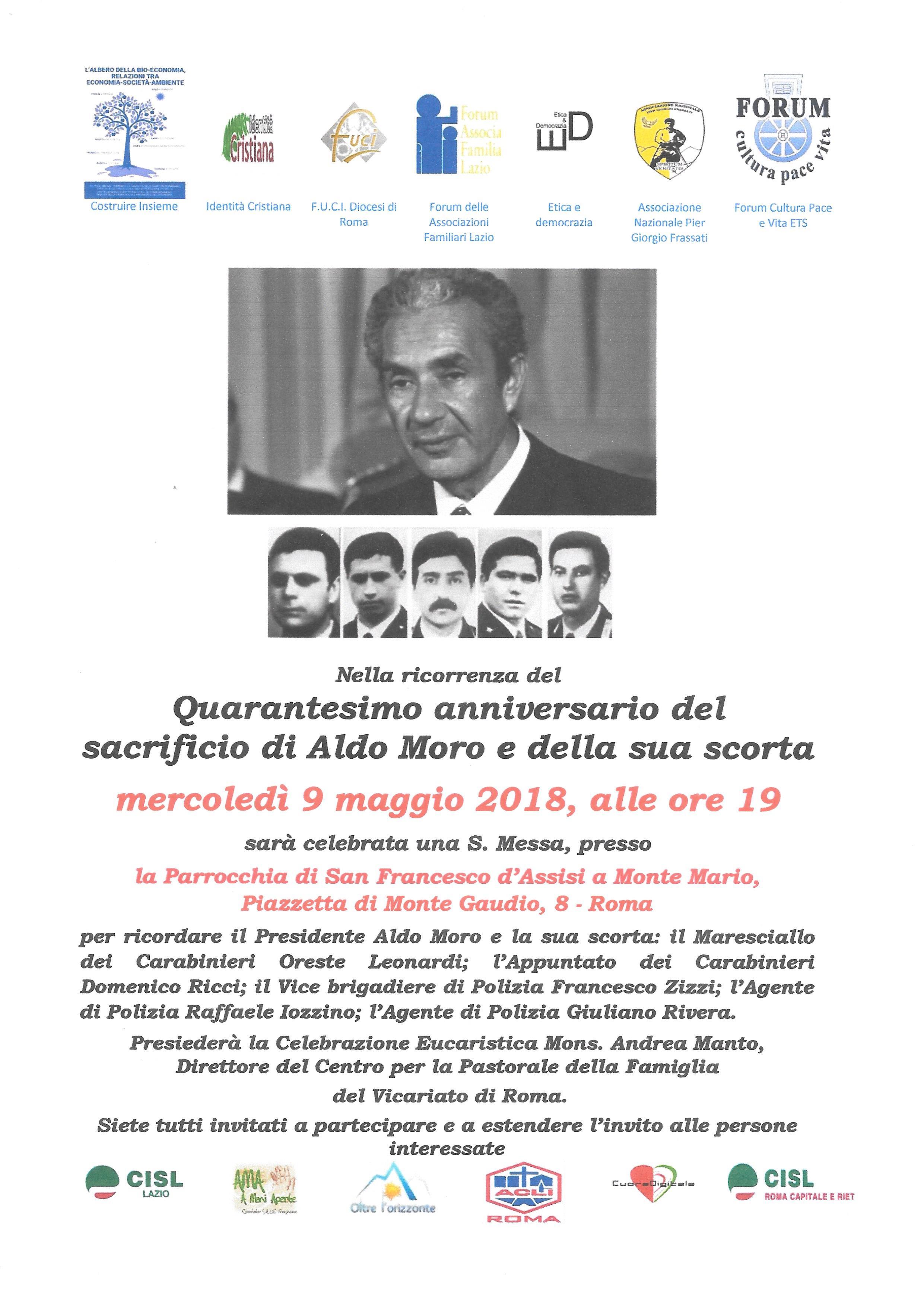 S. Messa nel Quarantesimo anniversario del sacrificio di Aldo Moro e della sua scorta
